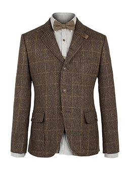 Brown Herringbone Jacket
