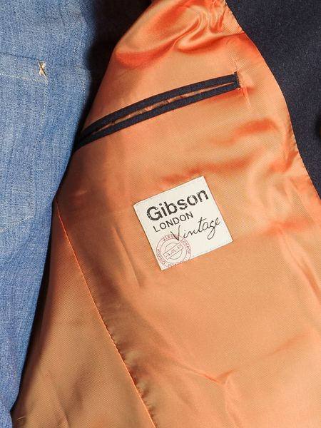 Gibson Navy Double Breasted Melton Coat