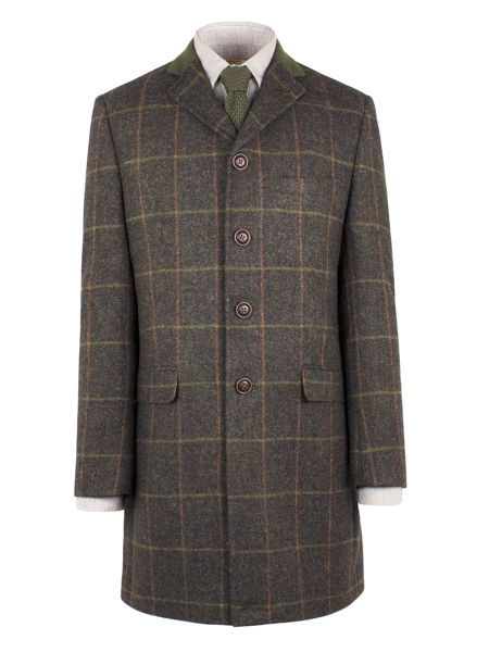 Gibson Brown Check Long Jacket