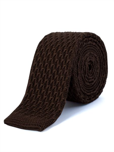 Gibson Chocolate Knitted Tie