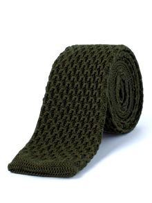 Gibson Olive Knitted Tie
