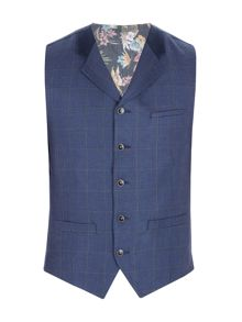 Gibson Navy Pick And Pick Check Vest