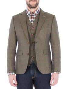 Gibson Green Pick And Pick Check Jacket