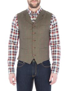 Gibson Green Pick And Pick Check Vest