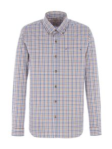 Gibson Navy and Brown Check Shirt