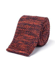 Gibson Navy And Orange Melange Knit Tie