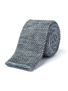 Gibson Grey And Teal Melange Knit Tie