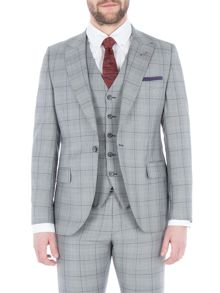 Gibson Grey Jacket With Purple Over Check