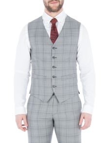 Gibson Grey With Purple Overcheck Vest