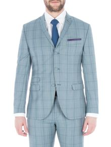 Gibson Blue Check Jacket With Over Check