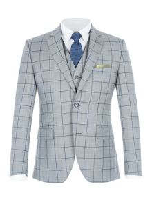 Gibson Grey With Blue Overcheck Jacket