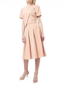 Miss Selfridge Nude Crepe Midi Skirt