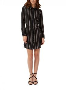 Petites Stripe Shirt Dress