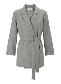 Miss Selfridge Belted Textured Jacket