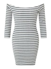 Miss Selfridge Petites Stripe Bodycon Dress