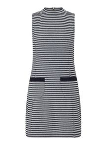 Petites Stripe Jacquard Dress