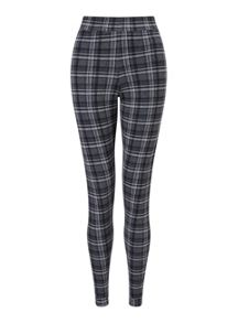 Grey Check Tube Trouser