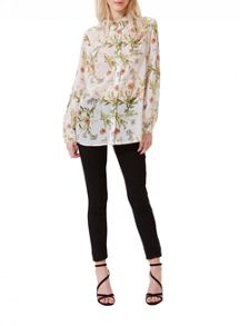Miss Selfridge Floral Chiffon Shirt