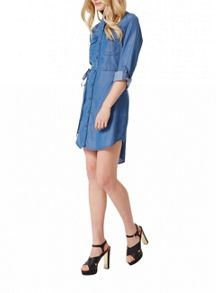 Miss Selfridge Belted Tencel Shirt Dress