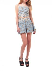 Miss Selfridge Petites Mixed Floral Skort
