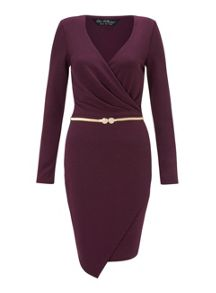 Burgundy Long Sleeve Dress