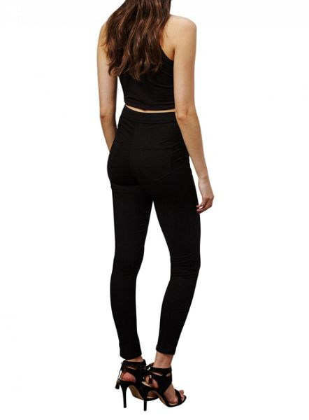 Miss Selfridge Black Steffi Super High Waist