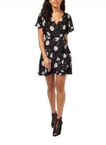 Miss Selfridge Petites Blossom Wrap Dress