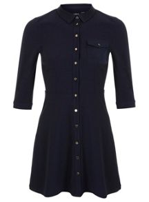 Petites Navy Shirt Dress