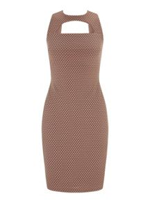 Miss Selfridge Pink Texture Curve Dress