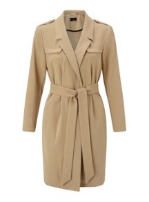 Miss Selfridge Petites Camel Fluid Mac