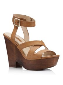 Miss Selfridge Marisol Tan Wedge Sandal