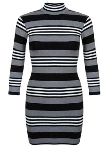 Petites Stripe Bodycon Dress