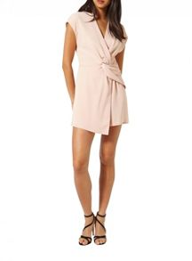 Miss Selfridge Blush Drape Playsuit
