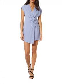Miss Selfridge Blue Drape Playsuit