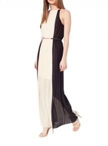 Miss Selfridge Colourblock Pleated Maxi Dress
