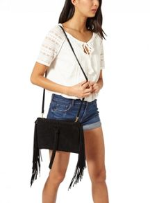 Miss Selfridge Fringe Cross Body Bag