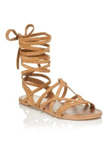 Miss Selfridge Faryn High Leg Wrap Sandal