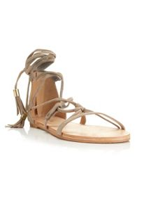 Miss Selfridge Fern Wrap Tie Sandal