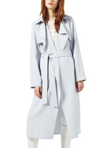 Miss Selfridge Blue Fluid Maxi Trench