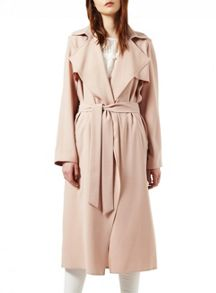 Miss Selfridge Nude Fluid Maxi Trench