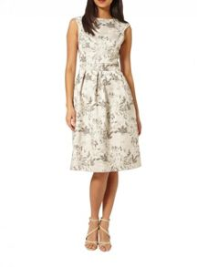 Miss Selfridge Jacquard Midi Prom Dress