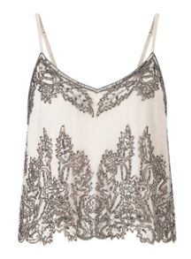 Miss Selfridge Embellished Cropped Cami Top