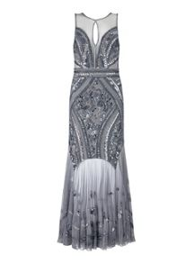 Miss Selfridge Pewter Embellished Maxi Dress