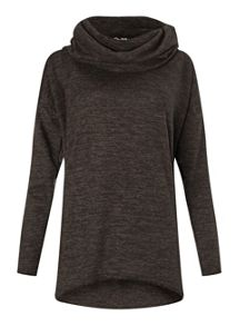 Miss Selfridge Charcoal Cowl Neck Top