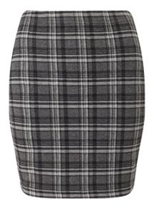 Miss Selfridge Grey Check Mini Skirt