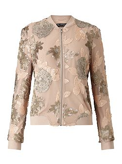 Blush Sequin Detail Bomber