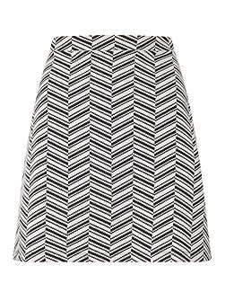 Chevron A Line Mini Skirt