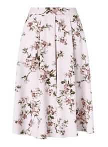 Miss Selfridge Floral Print Midi Skirt