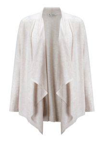 Miss Selfridge Oatmeal Waterfall Cardigan