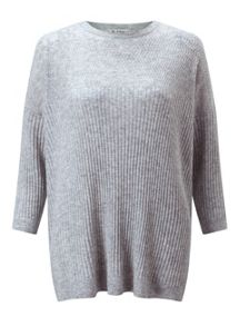 Miss Selfridge Grey Crew Neck Slouchy Jumper